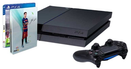 PlayStation 4 - Consola 1TB + FIFA 16 - Standard Edition - incluye caja metálica (en exclusiva en Amazon)
